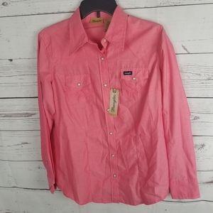 NWT Wrangler Snap Button Western Shirt Womans M